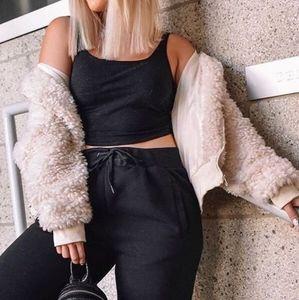 Soft Faux Fur Coat Tan